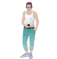 246 modern fashionable guy vector image
