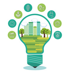 eco friendly light bulbs design vector image