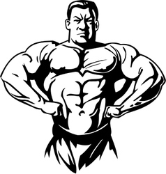 Bodybuilding and powerlifting - vector