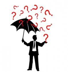 umbrella and rain background vector image