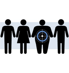 Diabetes targets overweight people vector