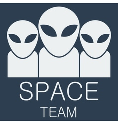 Alien team on blue background vector