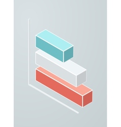 Isometric bar chart icon vector