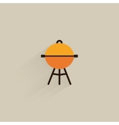 Mountain camping icon vector