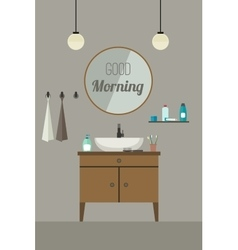 Bathroom interior with sink vector