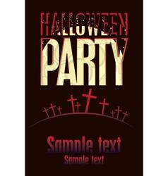 Halloween parties vector image