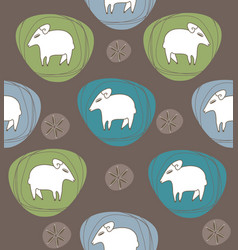 A sheep in ovals vector