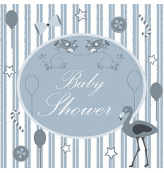 Baby shower card design with message vector