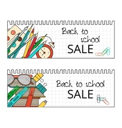 Back School Banner vector image