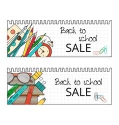 Back School Banner vector image