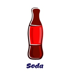 Cartoon bottle of soda drink vector image vector image