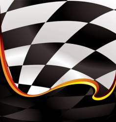 checkered wave golden vector image vector image