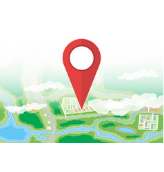 City map icon gps and navigation vector