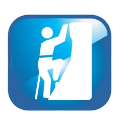 Climbing icon vector