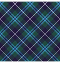 douglas tartan seamless diagonal pattern fabric vector image vector image