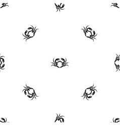 Fresh live crab pattern seamless black vector