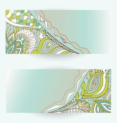 hand drawn floral banners vector image vector image