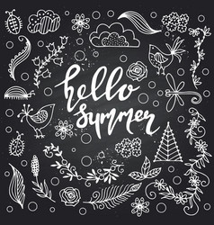 hand drawn summer themed phrases modern style vector image vector image