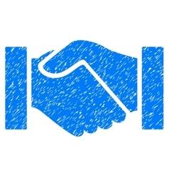 Handshake grainy texture icon vector