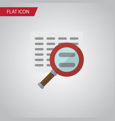 Isolated search flat icon scan element can vector