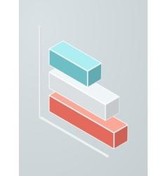 Isometric bar chart icon vector