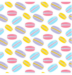 Macarons cake pattern vector