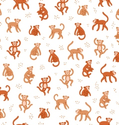 Monkeys seamless pattern vector