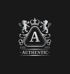 monogram logo template luxury letter vector image