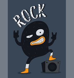 monster rock design vector image