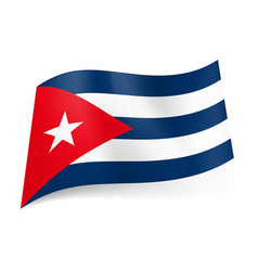 National flag of cuba blue and white stripes red vector