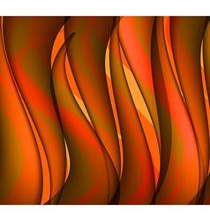 Orange waves vector image