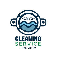 Original logo design for cleaning service vector