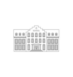 school building line drawing vector image vector image