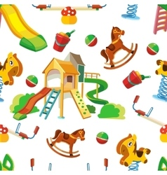 seamless pattern of children playground vector image vector image