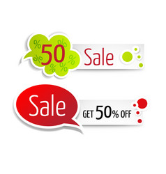 Set of super sale horizontal banners with place vector