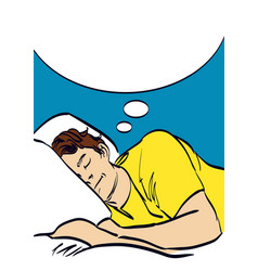 Sleeping man art in pop art style eps 10 vector