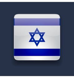 Square icon with flag of israel vector