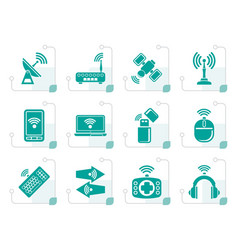 Stylized wireless and communication technology vector
