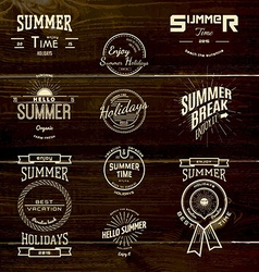 Summer holidays badges logos and labels for any vector image