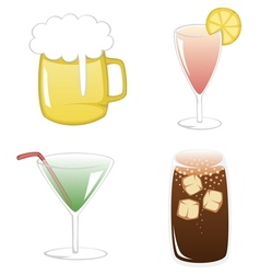 Summertime drinks vector