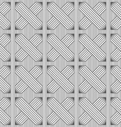 Slim gray hatched rectangles on stripes vector