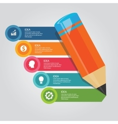 steps elements concept of pencil education writing vector image