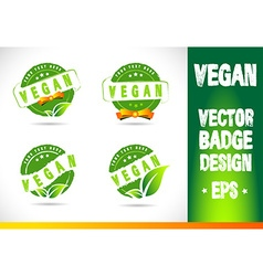 Vegan badge logo vector