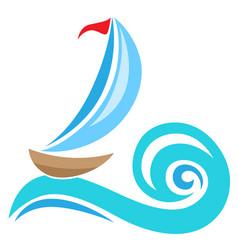 Sailing ship icon vector