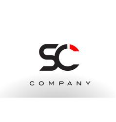 sc logo letter design vector image