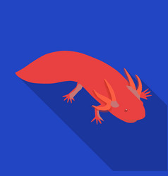 Mexican axolotl icon in flat style isolated on vector