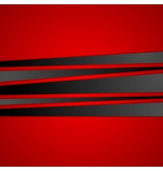 Black stripes on red background vector