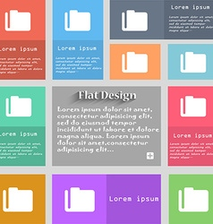 Document folder icon sign set of multicolored vector