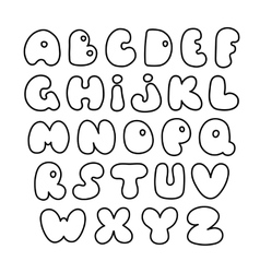 Alphabet hand drawn letters creative vector
