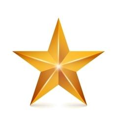 Achievement star yellow sign golden vector